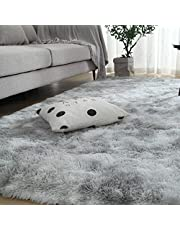 Extra Soft Luxury Fur Indoor Area Rug Fluffy Carpet Living Room Shaggy Nursery Rug Bedroom Dining Room Floor Mat Kids,4 by 5.2 Feet