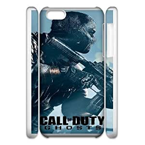 iphone 5C 3D Phone Case White Call of Duty Ghosts F6569747
