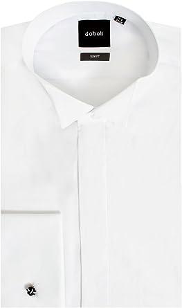 Camisa de Vestir 100% algodón Ajustada, Cuello Punta de ala ...