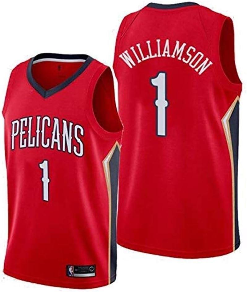 Camisa de Baloncesto for Hombres NBA Zion Williamson New Orleans Pelicans No. 1 Camisa de Baloncesto Moda Bordado Baloncesto Deporte Camiseta sin Mangas XIKJUK (Size : XXL): Amazon.es: Deportes y aire libre