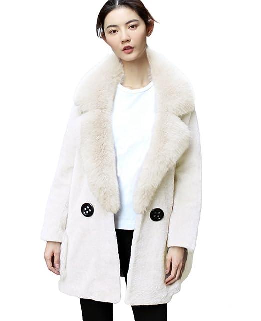 sale retailer e61a0 3192b CHENGYANG Donna Caldo Giacca Lungo Giaccone Pelliccia ...