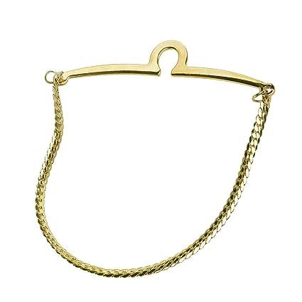 rosenice corbata Cadena Hombre corbata grapas (Golden): Amazon.es ...