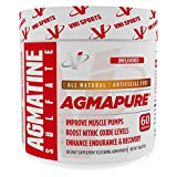 VMI Sports AGMAPURE Pure Natural Agmatine Sulfate for Intense Muscle Pumps & Strength Workouts, Nitric Oxide Booster To Support Performance and Vascularity, Energy & Endurance, 60serv, Unflavored