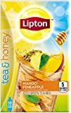 Lipton To Go Stix Iced Green Tea Mix, Tea and Honey, Mango Pineapple, 10 Count (Pack of 6)