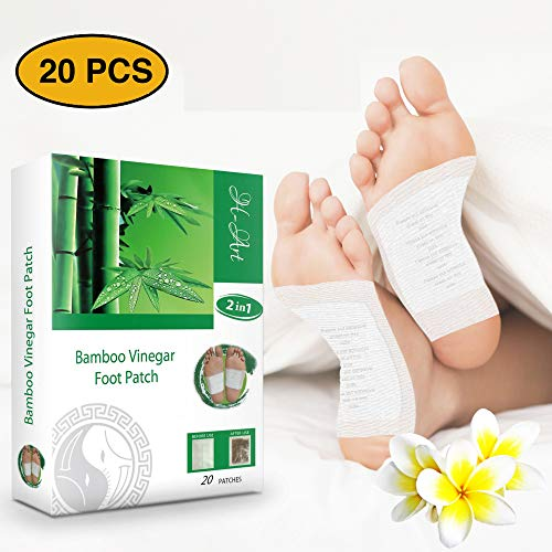 H-Art FDA Certified | Foot Pads | 2in1 (20pcs) | Pain Relief | Antistress | Body Cleansing | Sleep Better | 100% Organic Foot Patches | New 2019 Formula