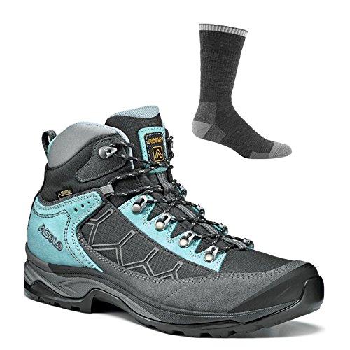 Asolo Women's Falcon GV Hiking Boots Grey/Graphite w/Socks - 8.5 by Asolo