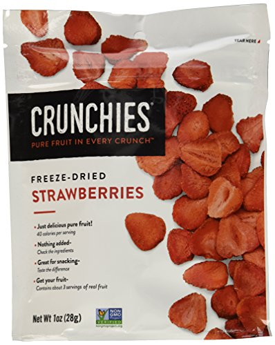 Crunchies Freeze-Dried Grab-n-Go Strawberries, 1.0 Ounce (Pack of 6)