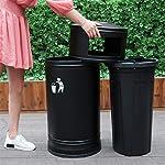 Basura-y-reciclaje-Papeleras-Bote-de-basura-de-metal-con-cenicero-y-canon-interior-ceniza-desmontable-Bandeja-de-basura-basura-para-uso-en-interiores-exteriores-Cubos-de-basura-Color-Green