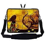 Meffort Inc 15 15.6 inch Neoprene Laptop Sleeve Bag Carrying Case with Hidden Handle and Adjustable Shoulder Strap - Gustav Klimt