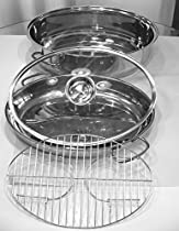 High Quality Stainless Steel 18/8 4pcs of Roasting Oval Casserole Cookware with Roasting Rack Thanksgiving Turkey Cooking