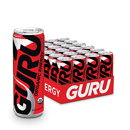 GURU Organic Energy Drink, Healthy and Natural Energy Beverage, 8.4-Ounce (Pack of 24)