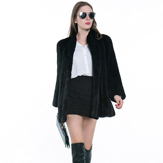 Escudo, abrigo,Internet Abrigo de piel sintética cálido para mujer New Ladies Chaqueta de