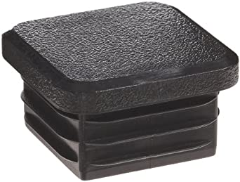 Kapsto 260 Q 3434 3 Polyethylene Square Plug, Black, 34 mm (Pack of 100)