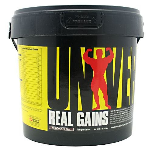 Universal Nutrition Real Gains - Chocolate Ice Cream - 3.8 lb (1.8 kg)