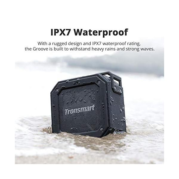 Enceinte Bluetooth Waterproof, Tronsmart Haut Parleur Bluetooth Portable, Autonomie 24H, Technologie TWS et Basses Puissantes, étanchéité IPX7, pour Téléphone et Tablettes, l'extérieur Les Voyages 5