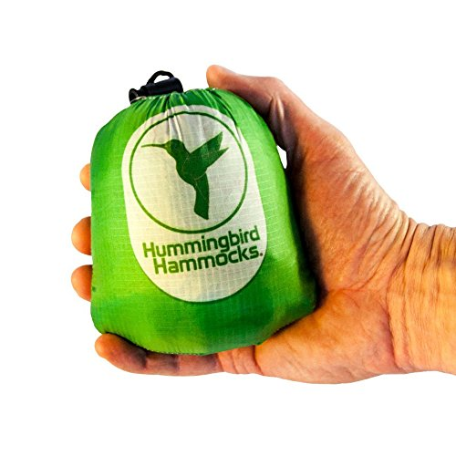Hummingbird Hammocks Ultralight Single Plus Hammock, Grass Green