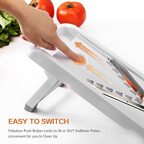 Cymas Vegetable Slicer,Veggie Cutter,Vegetable Julienne Slicer for Potato,Carrots,Cucumbers,Onions