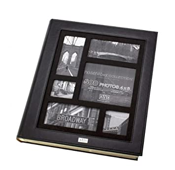 Amazoncom Kleer Vu Photo Album Suedeleather Collection Holds 500