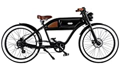 Greaser has been specifically designed to draw the eye to the beauty of the bike and away from the engine and controller, which are hidden away in the custom-designed, aerodynamic mid-section sleek case. - This bike will get you noticed and y...