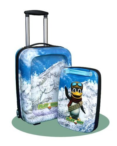 Playaway Case Childrens Portable Suitcase with Entertainment Centre - Edhi Penguin by The Present Store