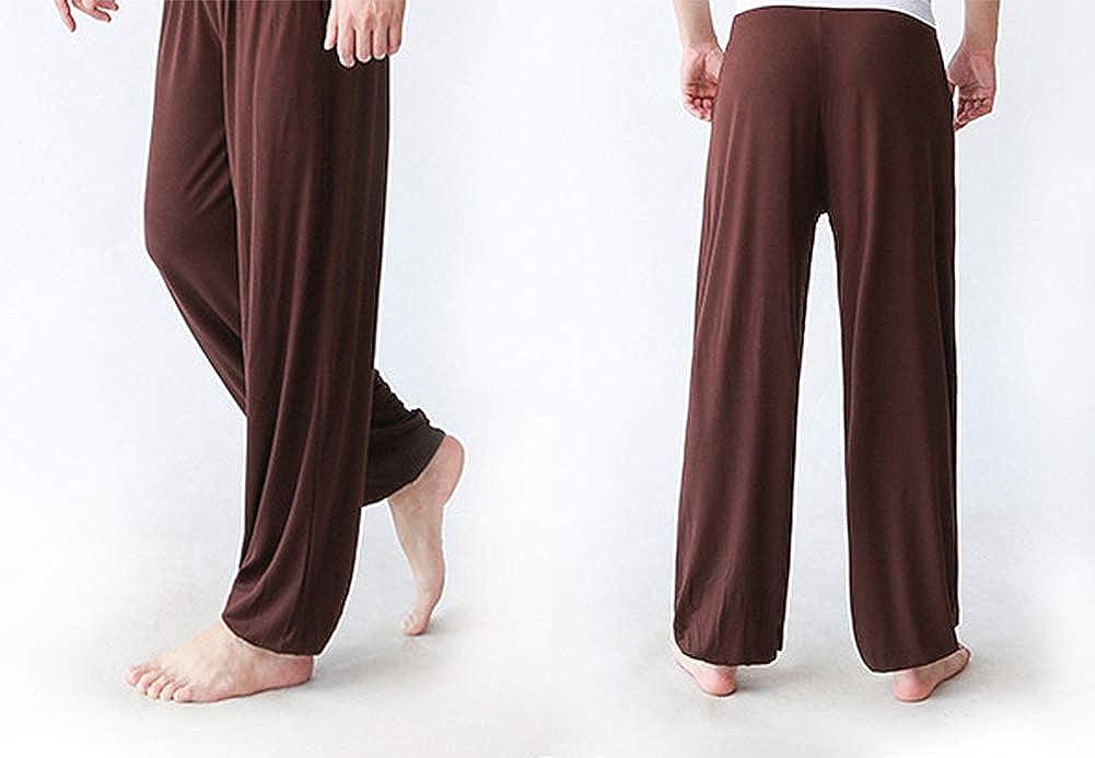 AvaCostume Mens Lightweight Loose Yoga Pants Elastic Waist Modal Yoga Harem Pants