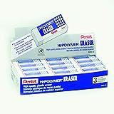 Pentel Hi-Polymer Block Eraser, Large White 36 pack