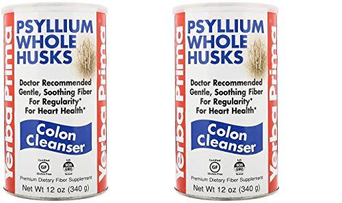 - Yerba Prima Psyllium Whole Husks (Pack Of 2) With Calcium, Potassium and Protein, 12 oz. each