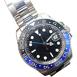 Parnis 40mm Black Dial Sapphire Glass deployment Automatic GMT mens Watch