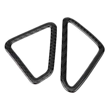 Kimiss - Marco de salida frontal para coche, fibra de carbono, autoadhesivo, para