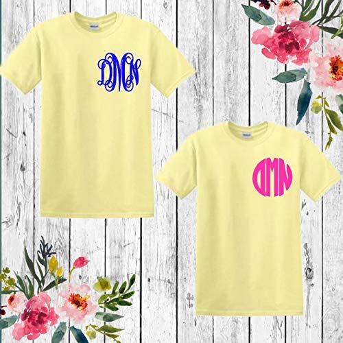 Monogrammed shirt, Monogram unisex tshirt, custom personalized shirt short sleeve monogrammed shirt, wedding gift, bridal party gift