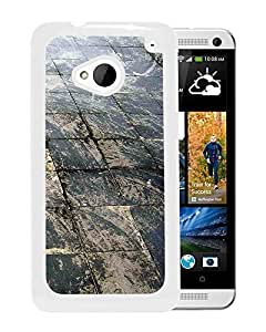 New Beautiful Custom Designed Cover Case For HTC ONE M7 With Stone Path (2) Phone Case