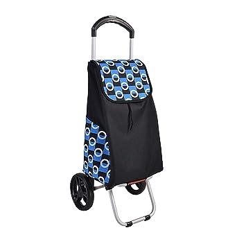 Trolley Dollyt Folding, 3 Files Carrito de compras con barra telescópica, maletas portátiles y equipaje Ups Trolley (Color : Azul): Amazon.es: Bricolaje y ...