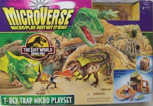 MicroVerse The Lost World: Jurassic Park T-Rex Trap Micro Playset (The Lost World Jurassic Park T Rex)