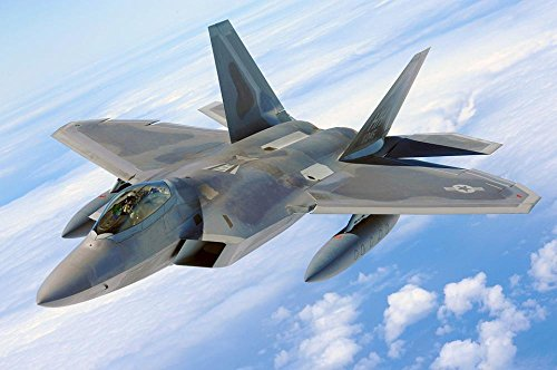 LAMINATED 36x24 Poster: Military Raptor Jet F-22 Airplane Plane Fighter Flying Flight Aircraft Air Force Aviation Defense