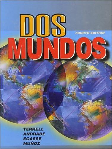Dos Mundos Student Edition 9780070644342