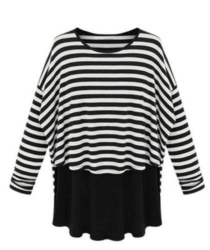 Femme Multicolore shirt T Stripe Ads 1H0zfAqxwE