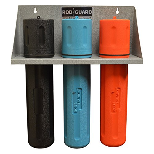 Storage Rack With 14'' BLACK, BLUE, and ORANGE Welding Electrode Rod Guard by Rod Guard