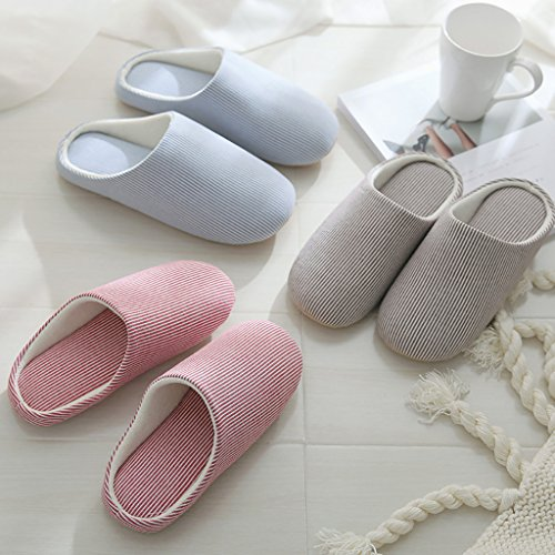 Womens Blend Toe Flammi Pink Cotton Indoor Striped Slippers Slippers House Closed Uq6d7q