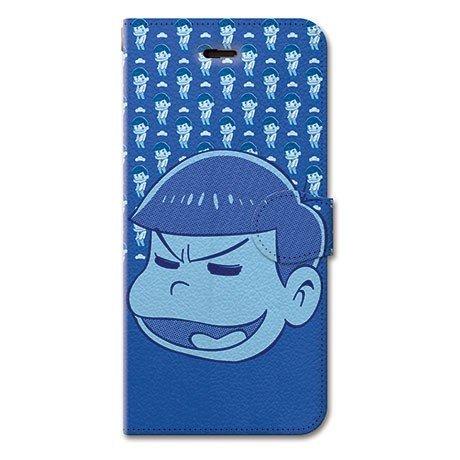 おそ松さん iPhone 6s Plus 6 Plus 5.5 インチ 手帳型ケース カバー カラ松 革 / カード収納 / スタンド / スマホケース / 横開き 【 保護フィルム付 】