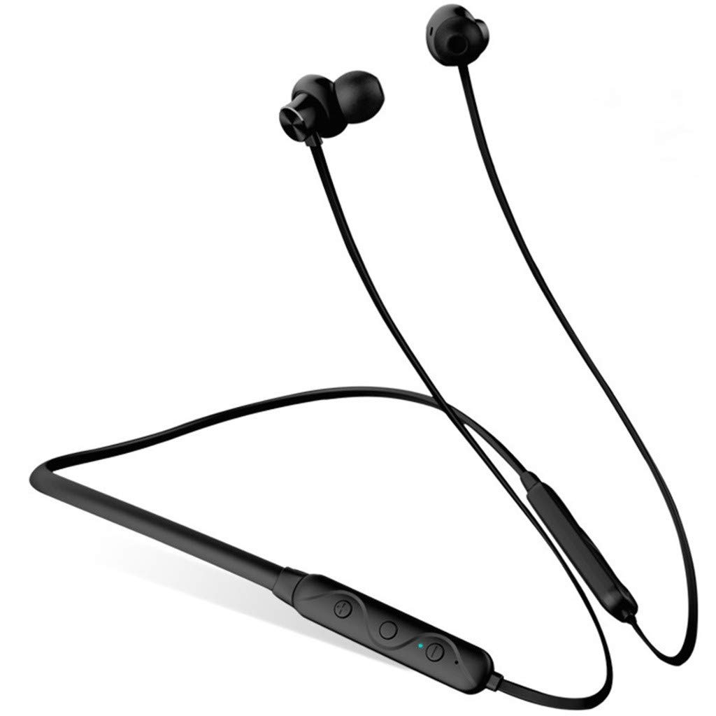 One76 Bluetooth Headphones Waterproof IPX5, Wireless Earbuds Sport, Noise Cancelling Bass HiFi Stereo In-Ear Neckband Earphones with Mic, 12 Hrs Playtime Noise Cancelling Headsets