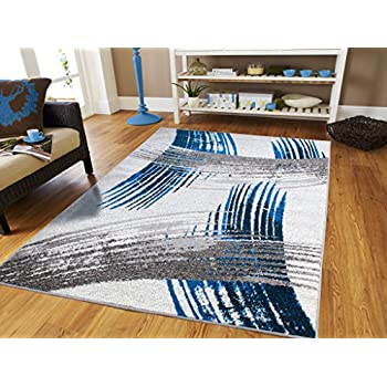 Amazon Com Large Grey Modern Rugs For Living Room 8x10
