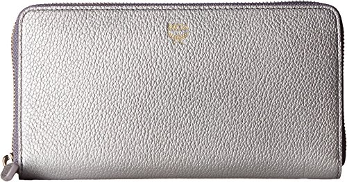 MCM Women's Milla Large Zip Around Wallet Spike Silver Wallets by MCM