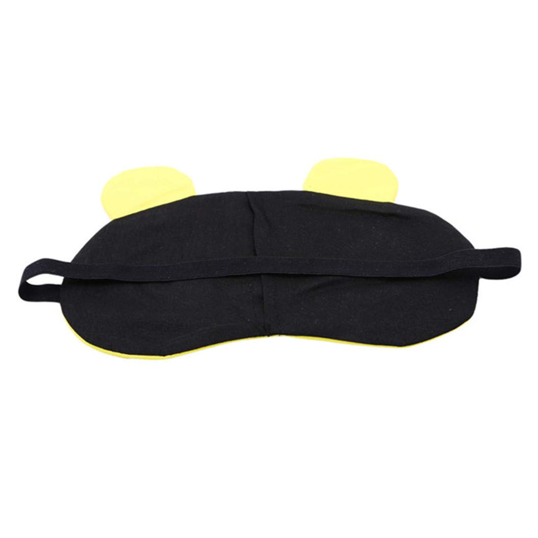 LZIYAN Sleep Masks Cartoon Sleep Eye Mask Soft Cute Eyeshade Eyepatch Travel Sleeping Blindfold Nap Cover,Yellow by LZIYAN (Image #3)