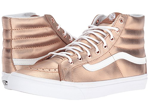 Vans Unisex Sk8-Hi Slim Damen Skateschuh (Metallic) Rose Gold / True White
