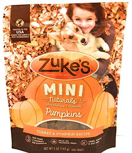 Zuke's Mini Naturals Pumpkins Halloween Fall Dog Treat, Wheat Free, Turkey & Pumpkin Recipe, 5 oz Pouch for $<!--$10.99-->