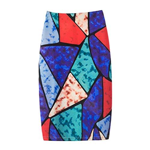 Moulante Backswing Jupe Style Serre Impression Femme 3 Yuanu Zipper Divis Casual Impression t Mode Jupe tPpO0