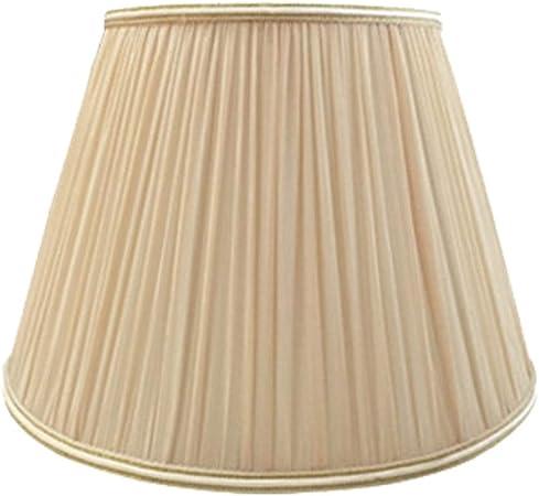 FABDB E27 Pantalla para lámpara de Lino Plisada, 100% Pura de Mano lámpara de Noche Lámpara de Mesa lámpara de Pared lámpara de pie Pantalla (araña 13CM-45CM),Apricot,26CM×40CM: Amazon.es: Hogar
