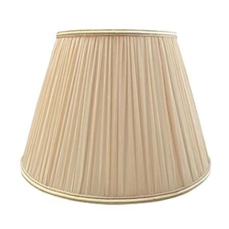 FABDB E27 Pantalla para lámpara de Lino Plisada, 100% Pura de Mano ...