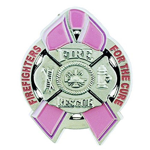 Firefighters For the Cure Pink Ribbon Lapel (Firefighter Ribbon)