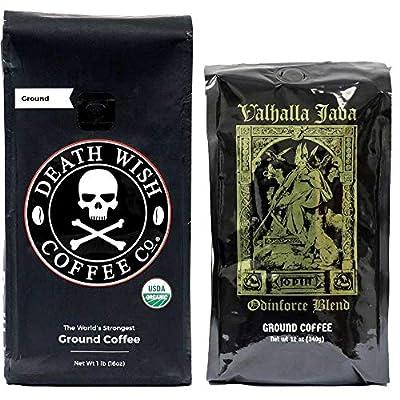 Death Wish & Valhalla Java Coffee Bundle Deal, USDA Certified Organic & Fair Trade